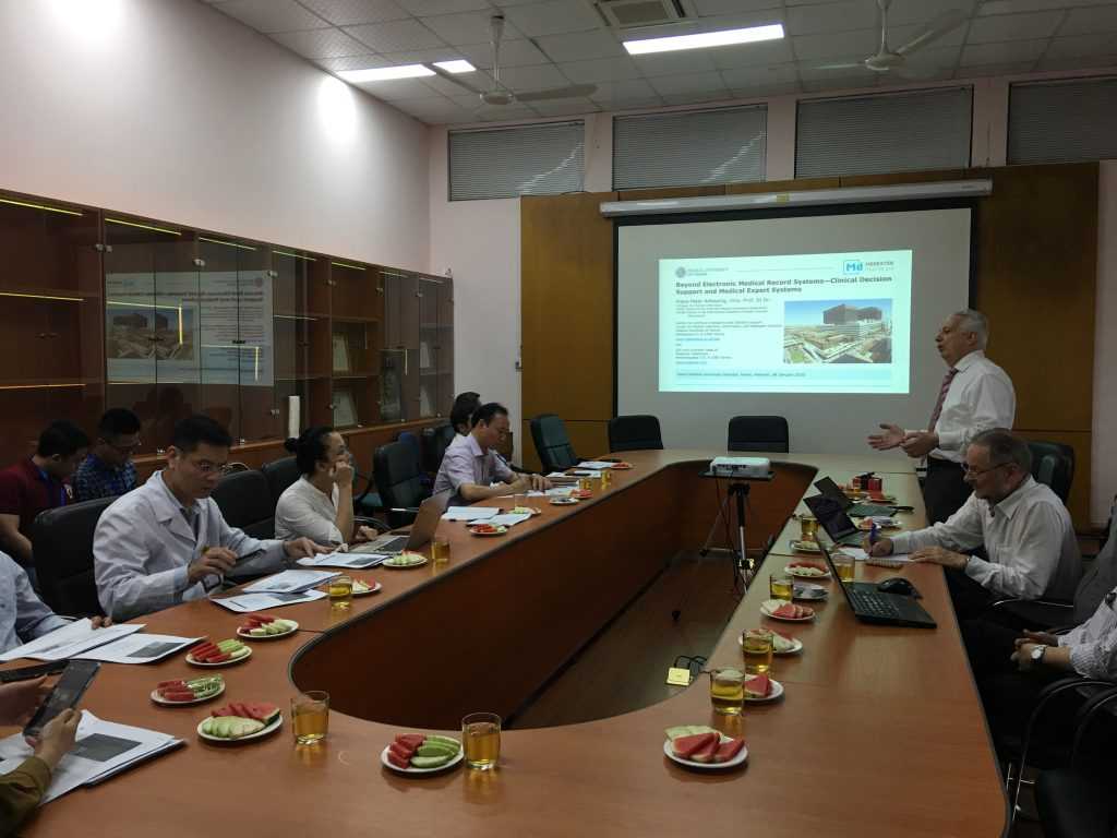 Activity 16: Prof. K.P. Adlassning and Prof. Walter KOLLER visit and gave a talk at the Hanoi Medical  University Hospital after AICI 2020.
