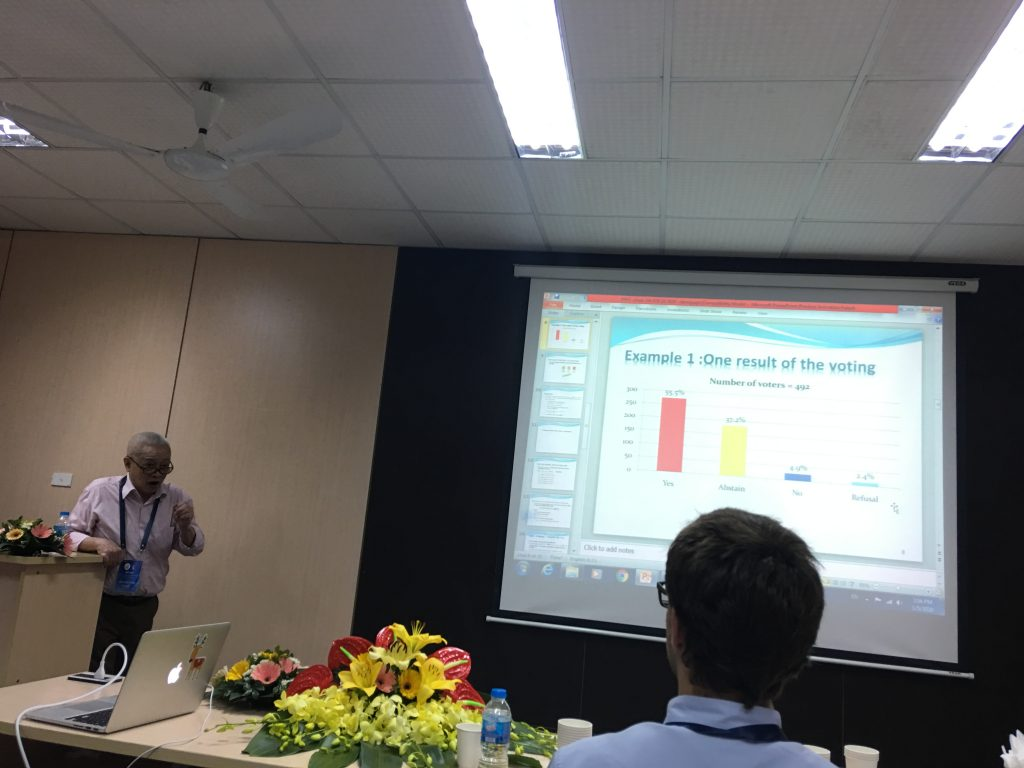 Activity 14: Prof. Bui Cong Cuong from Vietnam Mathematics Institute, VAST  presents his paper at AICI 2020.